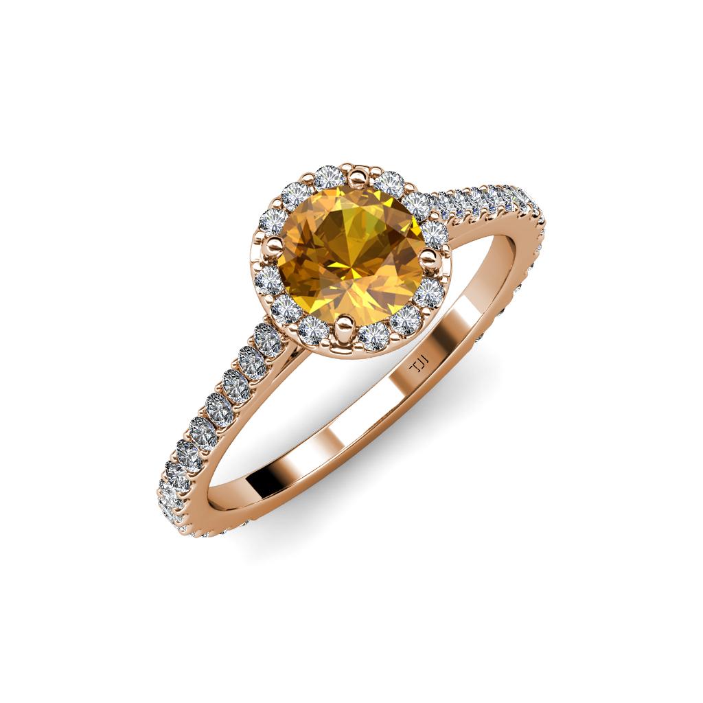 citrine si2 i1 g h halo engagement ring 1 60