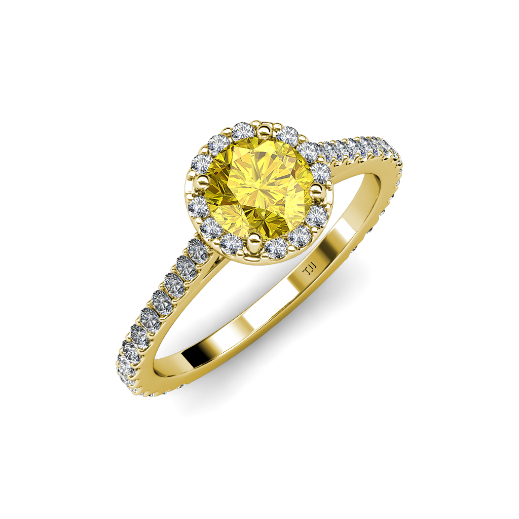 yellow sapphire si2 i1 g h halo engagement