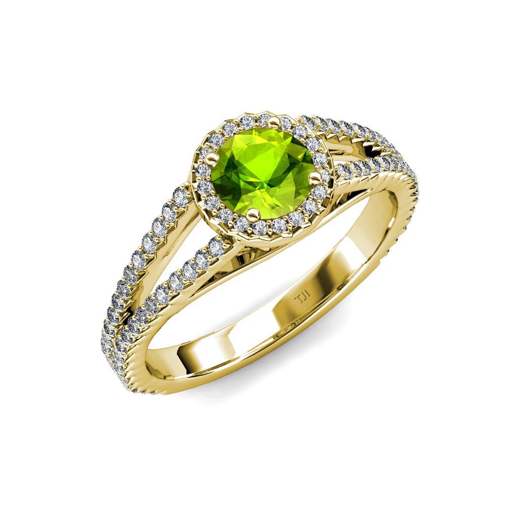 peridot diamond vs2 si1 f g halo engagement ring. Black Bedroom Furniture Sets. Home Design Ideas