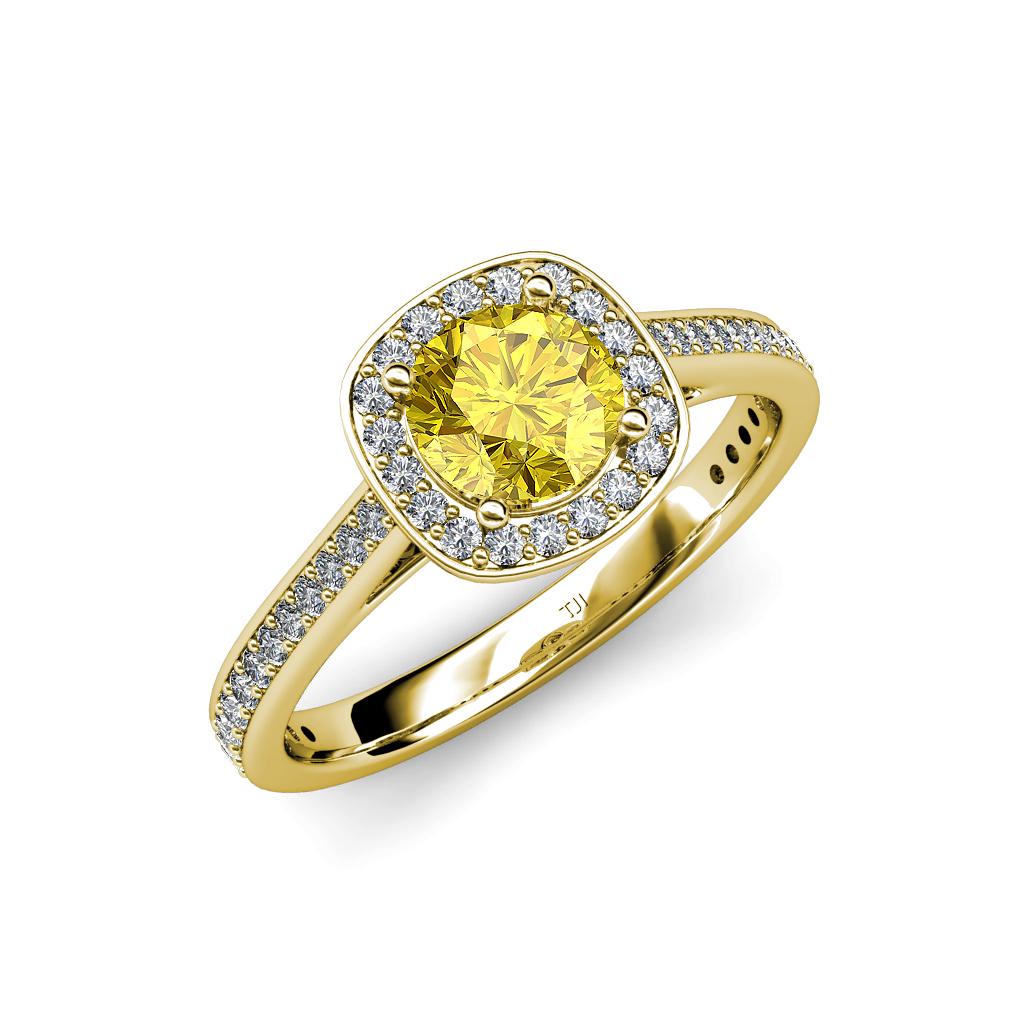yellow sapphire diamond halo engagement ring 1. Black Bedroom Furniture Sets. Home Design Ideas