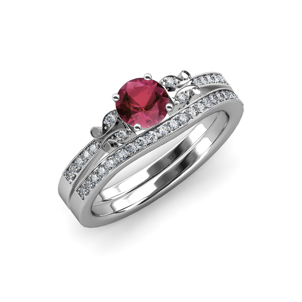 rhodolite garnet diamond butterfly engagement ring. Black Bedroom Furniture Sets. Home Design Ideas