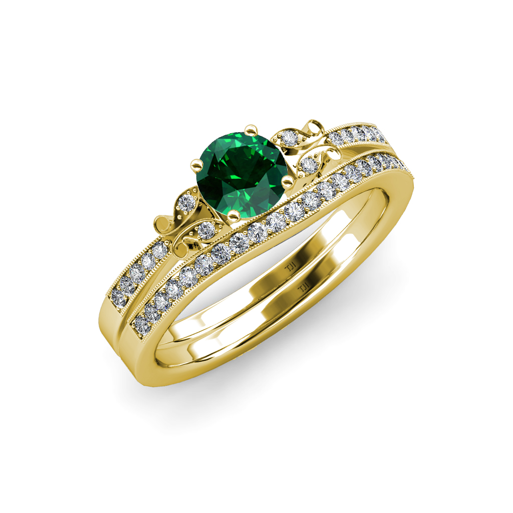 emerald and butterfly engagement ring wedding