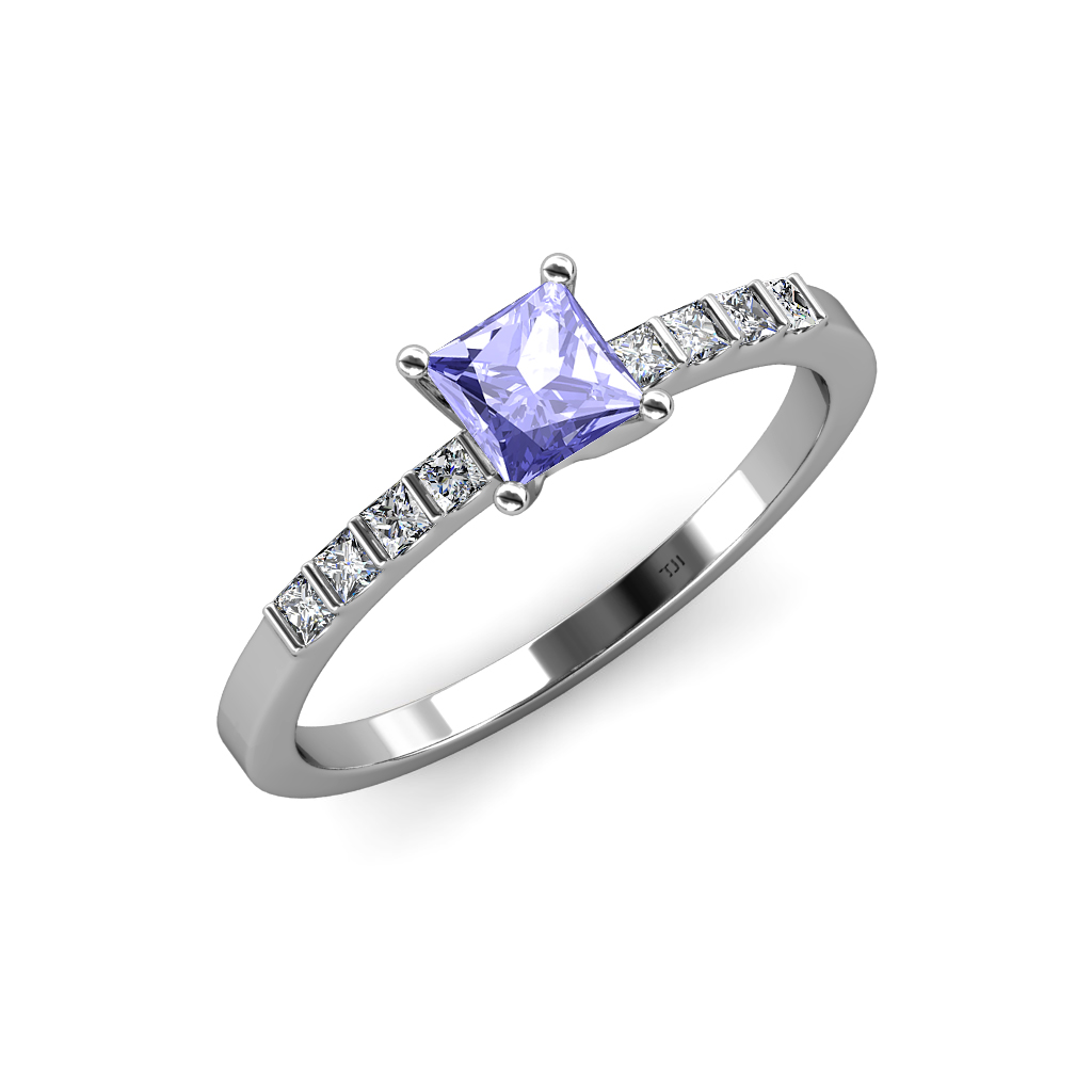 tanzanite diamond si2 i1 g h engagement ring ct. Black Bedroom Furniture Sets. Home Design Ideas