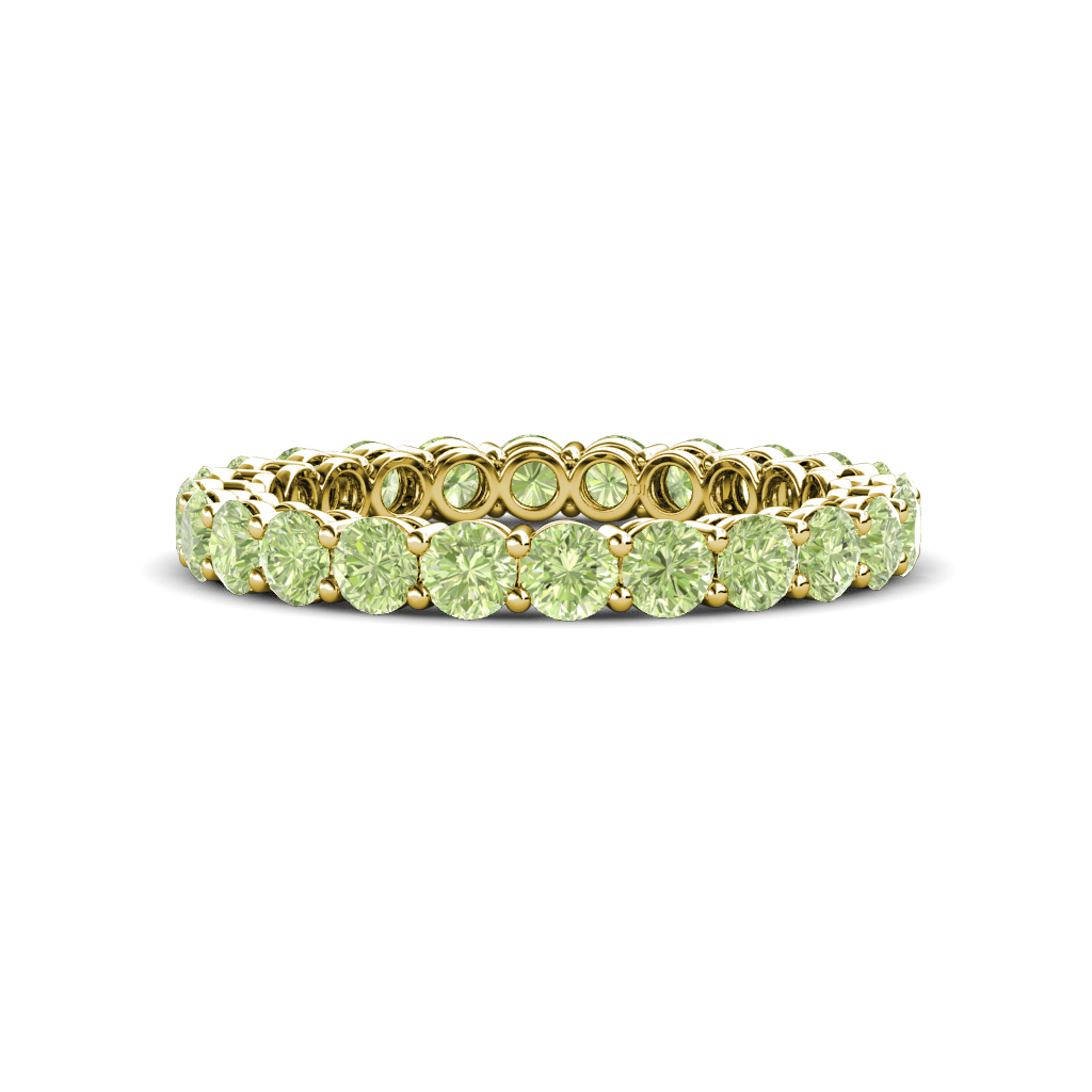 Peridot-Shared-Prong-Womens-Eternity-Ring-Stackable-2-17-ctw-14K-Gold-JP-148540